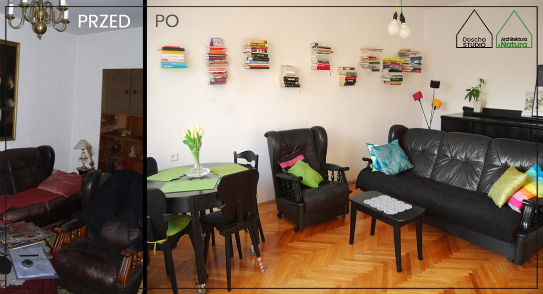 Metamorfoza / home staging mieszkania w Gdynia Projektowanie wnętrz: Doscha STUDIO Julia Chalimoniuk