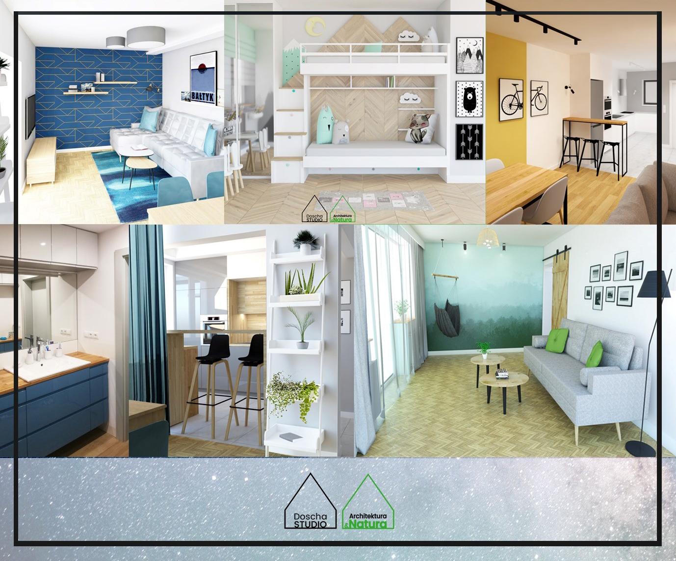 Projektowanie wnętrz mieszkań projekty: Doscha STUDIO Julia Chalimoniuk